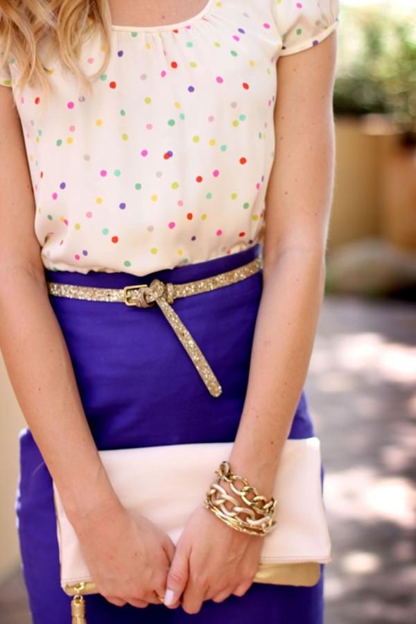 shirt confetti blouse festive skirt belt birthday sparkle bright dress rainbow polka dots funfetti