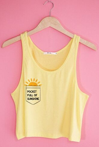 shirt pockets full of sunshine pocket full of sunshine yellow tank top