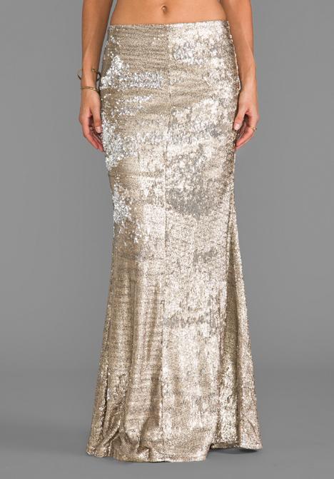 LINE & DOT Sequin Mermaid Skirt in Gold - Line & Dot