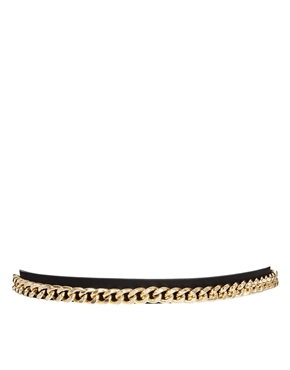 Pieces | Pieces Dasana Chain Detail Waist Belt at ASOS