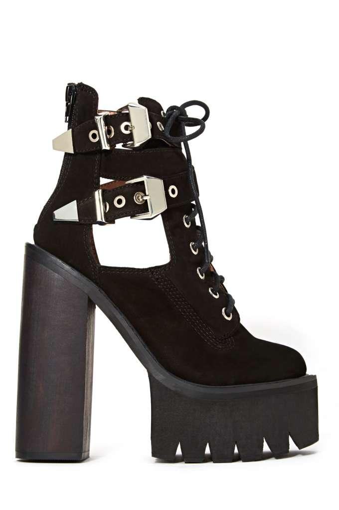 Jeffrey Campbell Abner Platform Boot - Black at Nasty Gal