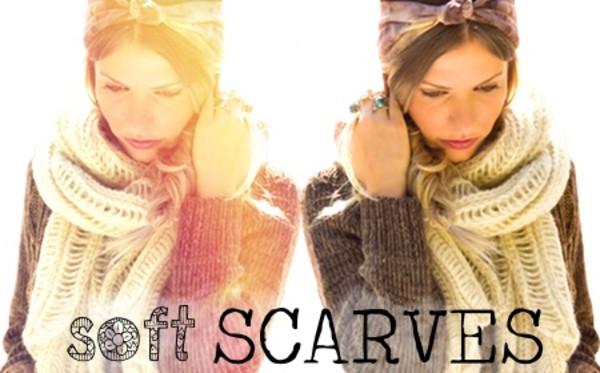 scarf scarves knit knitwera long soft