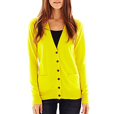 jcpenney | jcp™ Front-Pocket Cardigan
