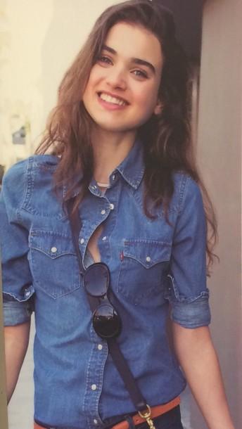 shirt western levi's jeans blouse blue shirt buttoned