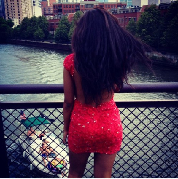 dress red dress red glitter backless dress backless