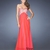 A-line Sweetheart Empire Beads Open Back Small Train Chiffon Prom Dress PD11648