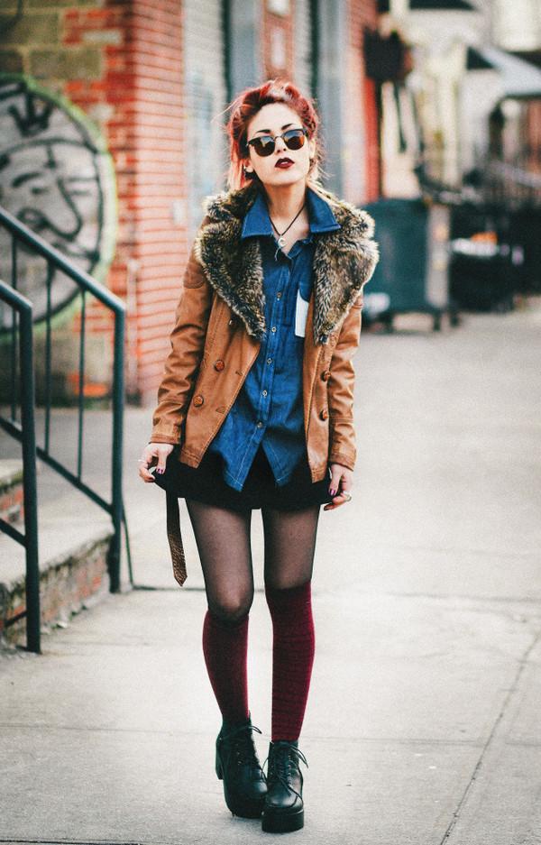 le happy jacket shirt skirt shoes