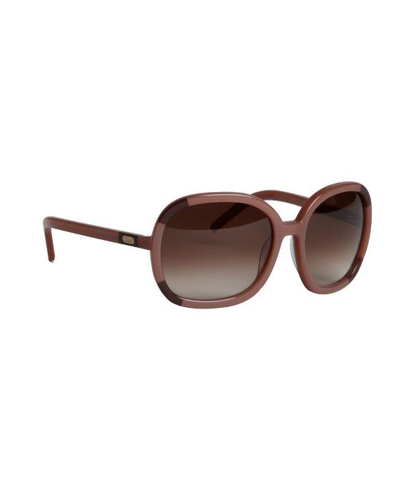 Chloe old pink striped acrylic oversized square sunglasses   BLUEFLY up to 70% off designer brands