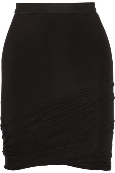 T by Alexander Wang|Ruched jersey mini skirt|NET-A-PORTER.COM