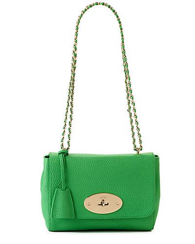 """Rue La La - Mulberry """"Lily"""" Soft Grain Leather Shoulder Bag"""