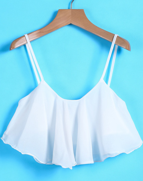 Lacia Ruffle Crop Top | Outfit Made