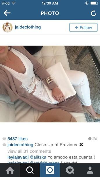 cardigan beige long