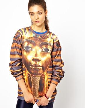 Mr Gugu & Miss Go | Mr. Gugu & Miss Go Sweatshirt In Pharaoh Print at ASOS