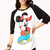 Cool Mickey Mouse Raglan Top | FOREVER21 - 2000075229