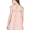 Apricot short sleeve lace pleated chiffon dress - sheinside.com