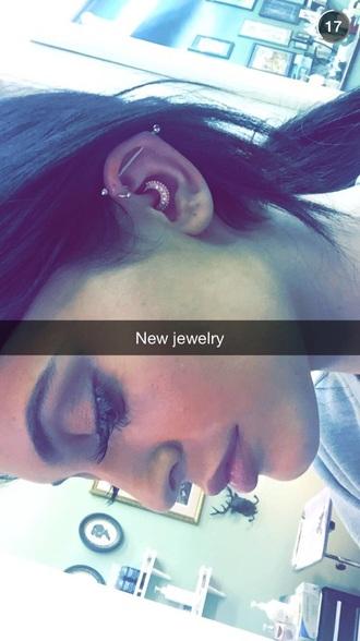 jewels kylie jenner jewelry ear piercings daith piercing daith piercing piercing jewels earings kylie jenner