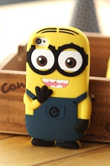 Two Big Eyes Silicone Case for iPhone 5 & 5S [FEIC0019] - PersunMall.com