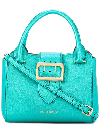 women bag tote bag leather cotton green burberry leather bag female mint