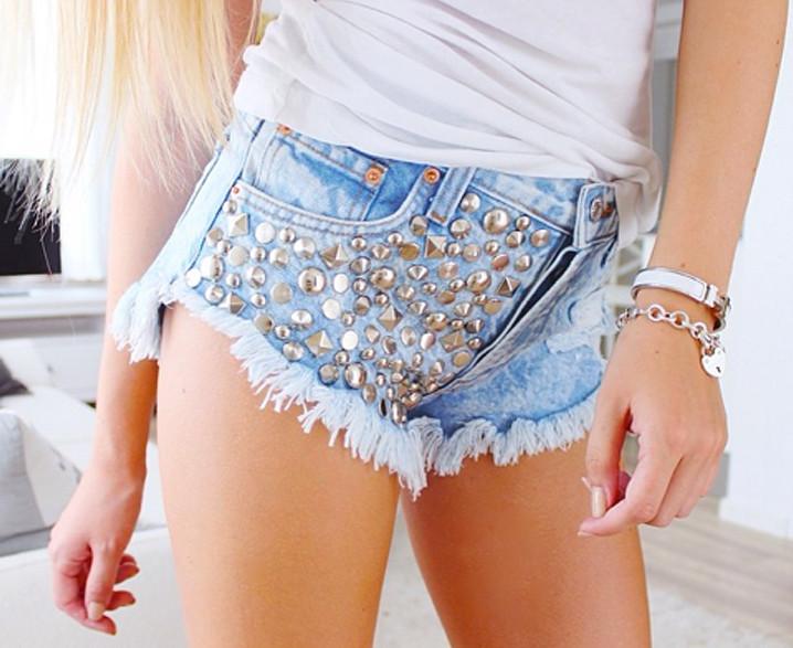 Luna Stoner Studded Babe Shorts | RUNWAYDREAMZ