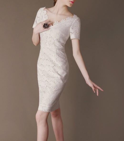 White Lace Elegant Noble Summer OL Slim Women Fashion Dress lml7046 - ott-123 - Global Online Shopping for Dresses