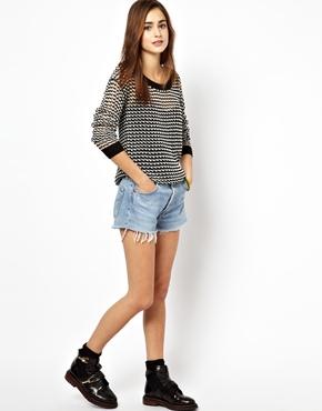 Vero Moda | Vero Moda Textured Long Sleeve Sweater at ASOS