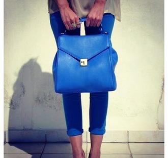 bag handbag blue navy gold clutch satchel tote bag gorgeous
