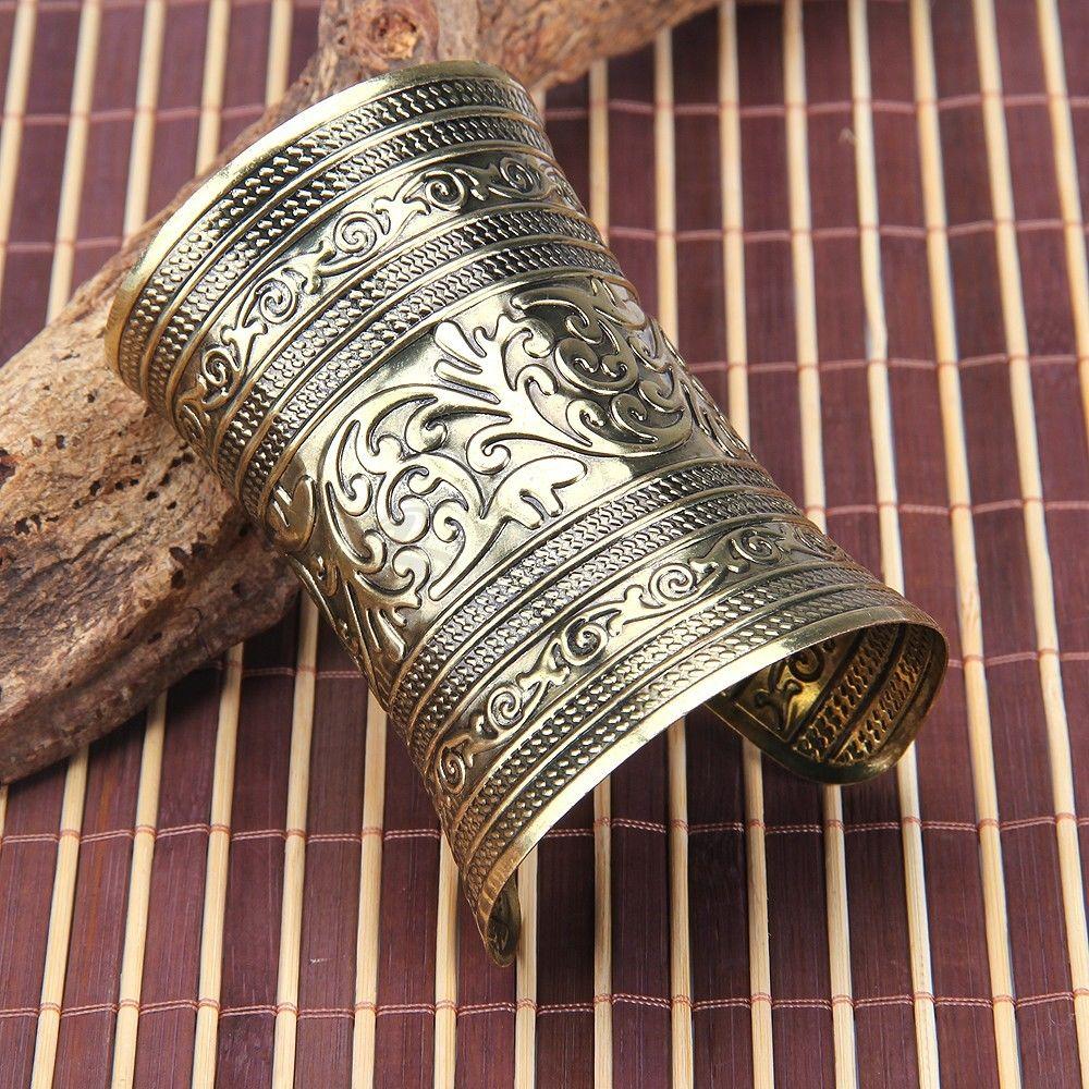Bracelet Manchette EN Metal Rigide Cisele Vintage PR Femme | eBay