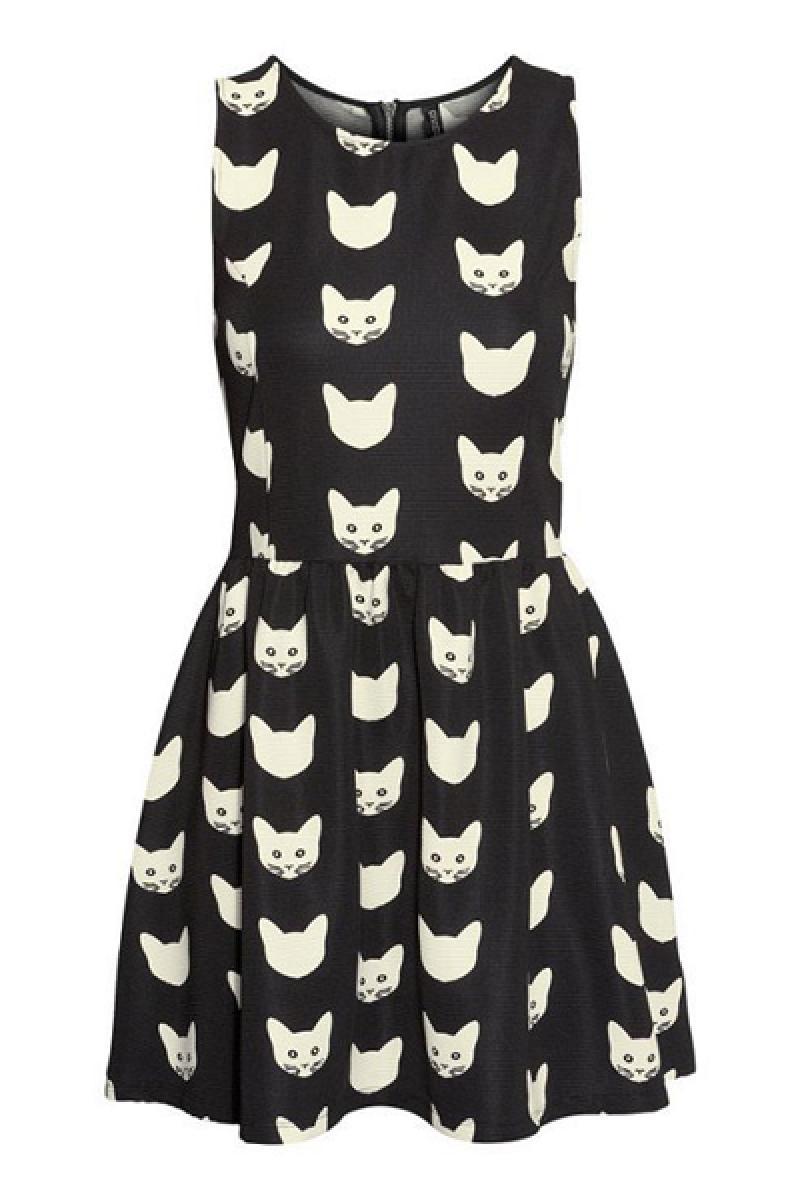 New Cats Skinny Sleeveless Dress,Cheap in Wendybox.com