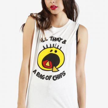 All That & A Bag Of Chips Graphic Tank by Petals & Peacocks - New Arrivals on Wanelo
