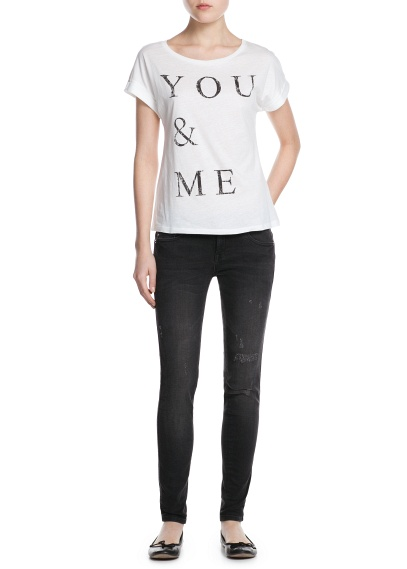 MANGO - CLOTHING - Tops - You and me t-shirt