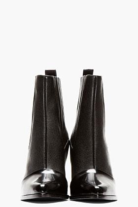 Kenzo Black Leather Paris Texas Kara Boots for women   SSENSE