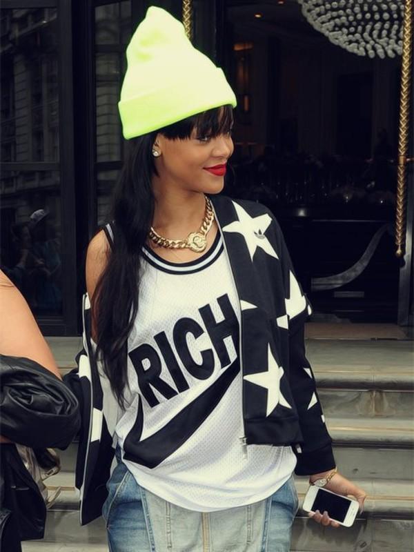 jewels rihanna jacket t-shirt hat blouse shirt