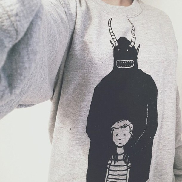 sweater cute sweater monster