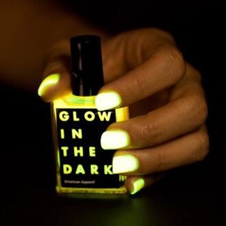 nail polish nails glow in the dark in the dark