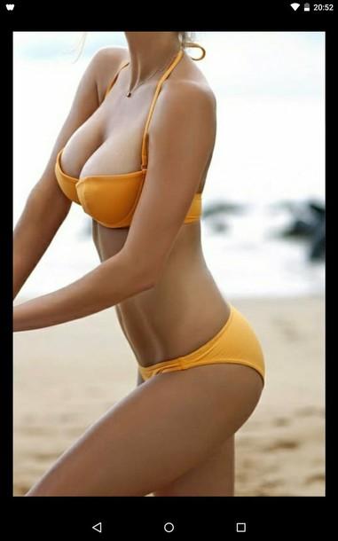 swimwear bikini yellow beach holidays