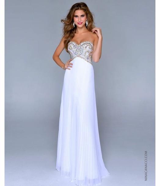dress prom dress long prom dress prom dress prom dress prom dress chiffon chiffon dress white dress white and gold dress long dress strapless white
