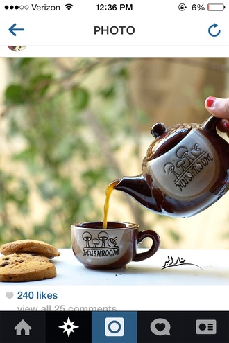 shirt cup teapot teacup mushroom lovely