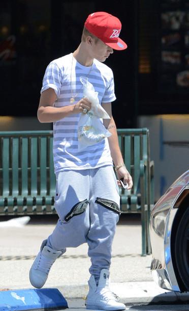 Pants: guys, swag, joggers, justin bieber, t-shirt, shoes