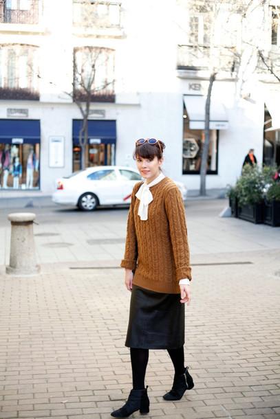 che cosa blogger rust black skirt