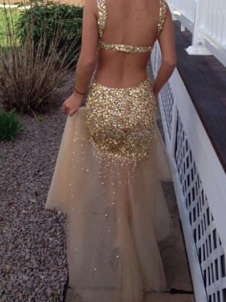 dress prom dress gold open back prom dress sequin dress sequins embelished dress embellished gold sequins gold prom dress bodycon dress