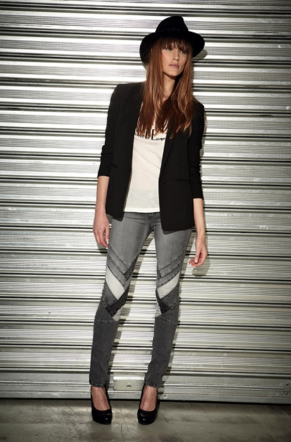 t-shirt berenice fashion lookbook jacket shoes