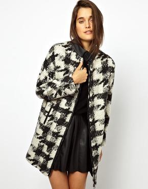 ASOS   ASOS - Manteau en laine à carreaux chez ASOS