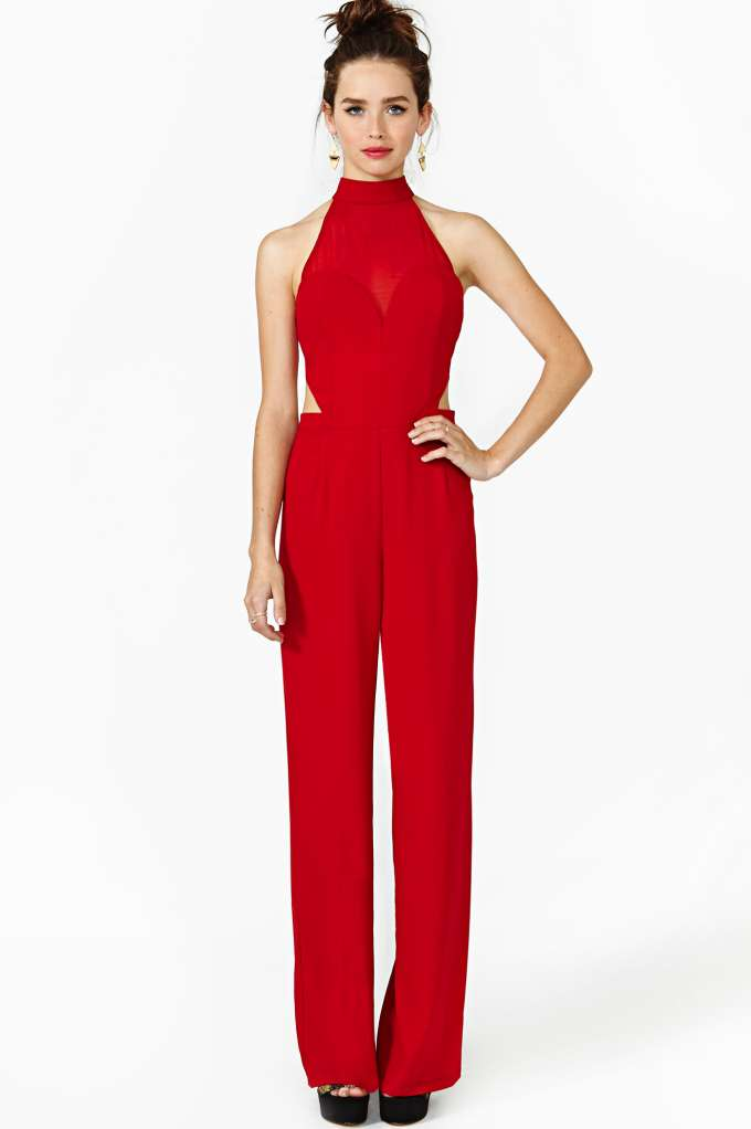 Heat Of The Moment Jumpsuit in  Clothes Bottoms at Nasty Gal