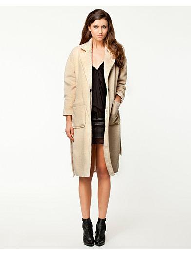 Fuzzy Long Coat - Notion 1.3 - Beige - Jakker - Klær - Kvinne - Nelly.com