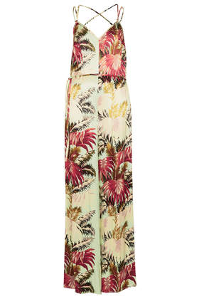 Lux Palm Strappy V Jumpsuit - Rompers and Jumpsuits  - Clothing  - Topshop USA