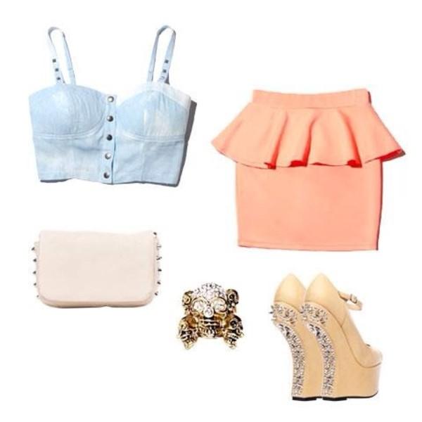 shirt bag shoes blouse jewels