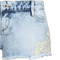 Light blue denim shorts with lace trim | tallyweijl