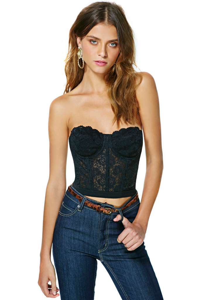 Fleur Lace Bustier  in  Clothes at Nasty Gal