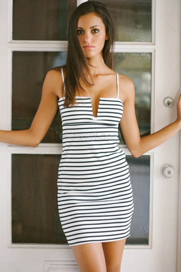 dress bodycon dress sexy sexy dress city life city outfits plunge neckline plunge neckline stripes striped dress summer dress