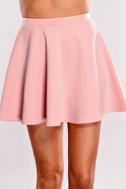 Pink High Waist Skater Skirt @ Amiclubwear Clothing Skirts Online Store:Long Skirt,Mini Skirts,Poodle Skirt,Plaid Mini Skirt,Micro Mini Skirt,Jeans Skirts,Black Mini Skirt,Up Skirt,Short Skirts,Leather Skirts,Pencil Skirts,High Waist Pencil Skirt,Pleated